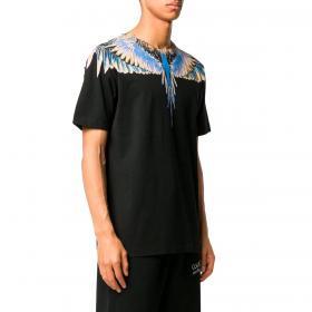 T-shirt Marcelo Burlon Wings Basic con stampa da uomo rif. CMAA018R20JER001
