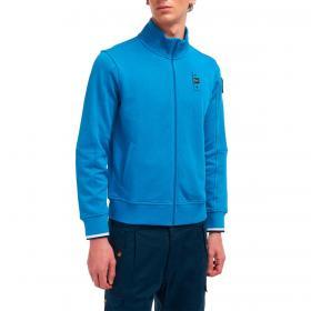 Felpa Blauer USA con zip a collo alto da uomo rif. 21SBLUF01119-005662