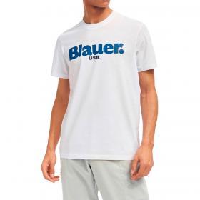T-shirt Blauer USA con stampa logo centrale da uomo rif. 21SBLUH02128-004547
