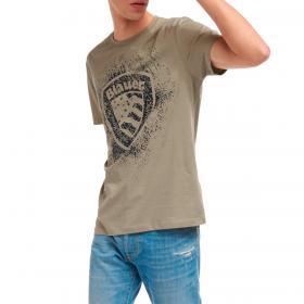 T-shirt Blauer USA con stampa effetto consumato da uomo rif. 21SBLUH02134-004547
