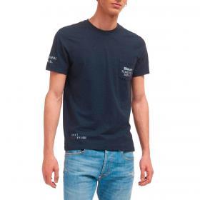 T-shirt Blauer USA con stampa squadra tecnica da uomo rif. 21SBLUH02382-005695