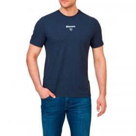 T-shirt Blauer USA con stampa logo centrale da uomo rif. 21SBLUH02385-005695