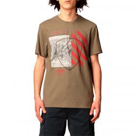 T-shirt Blauer USA con maxi stampa scudo da uomo rif. 21SBLUH02386-005695