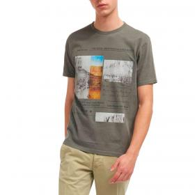 T-shirt Blauer USA Born To Ride con stampa da uomo rif. 21SBLUH02390-005321