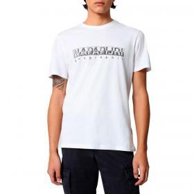 T-shirt Napapijri Sallar SS con stampa logo da uomo rif. NP0A4F9O