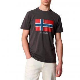 T-shirt Napapijri Sirol con stampa logo a manica corta da uomo rif. NP0A4F9R
