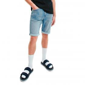 Pantaloncini Calvin Klein Jeans slim in denim da uomo rif. J30J317749