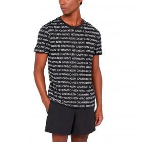 T-shirt Calvin Klein Swimwear con logo all over da uomo rif. KM0KM00598