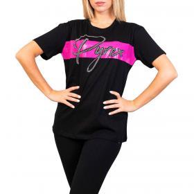 T-shirt Pyrex con stampa lettering e strass applicati da donna rif. 21EPB42058
