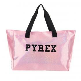 Borsa Pyrex in glitter con stampa logo centrale da donna rif. PY050282