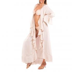 Kaftano Ardoel in tessuto chiffon con balze decorative da donna rif. JAMINE
