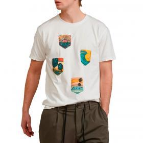 T-shirt Outfit con fantasia tasche applicate da uomo rif. OF1S2S1T012
