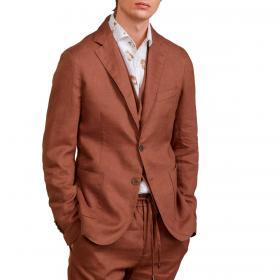 Giacca Outfit monopetto in lino da uomo rif. OF1S2S1G002