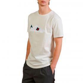 T-shirt Outfit girocollo con ricamo scarpa da uomo rif. OF1S2S1T018