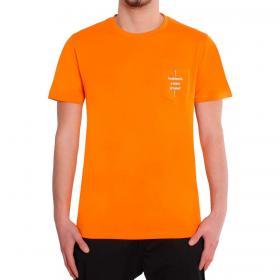 T-shirt Over-d taschino con stampa sul petto da uomo rif. OM562TS