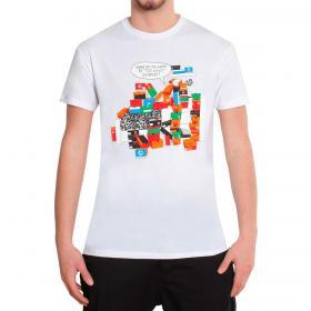 T-shirt Over-d basica girocollo con stampa da uomo rif. OM657TS