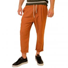 Pantaloni Over-d con lacci in vita in misto lino da uomo rif. OM662PN