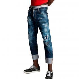 Jeans Dsquared2 Spots Made With Love Sailor Jeans effetto consumato da uomo rif. S71LB0896 S30342
