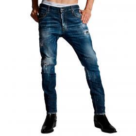 Jeans Dsquared2 Medium 4 Wash Skater Jeans effetto consumato da uomo rif. S74LB0872 S30342
