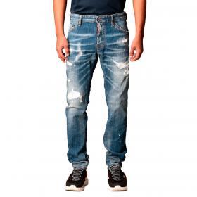 Jeans Dsquared2 Cool Guy Jean con vernice e rotture da uomo rif. S79LA0021 S30342