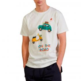 T-shirt Outfit con stampa 'On The Road' da uomo rif. OF1S2S1T013
