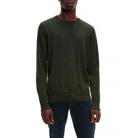 Maglione Calvin Klein girocollo in lana superior da uomo rif. K10K102727