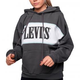 Felpa Levi's con cappuccio e stampa a caratteri serif da donna rif. 85774-0001