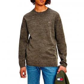 Pullover Tommy Jeans in cotone biologico melange da uomo rif. DM0DM11858