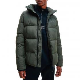 Piumino giubbotto Calvin Klein con cappuccio in nylon arricciato da uomo rif. K10K107485