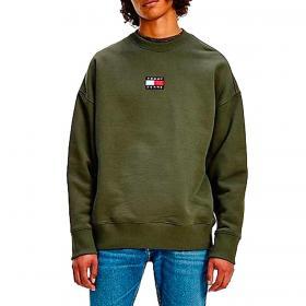 Felpa Tommy Jeans con distintivo Tommy sul petto da uomo rif. DM0DM10911