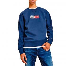Felpa Tommy Jeans girocollo con logo sul petto da uomo rif. DM0DM11631