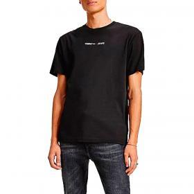 T-shirt Tommy Jeans con logo ricamato da uomo rif. DM0DM09701