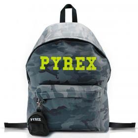 Zaino Pyrex Camouflage in nylon con maxi logo unisex rif. PY80122