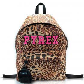 Zaino Pyrex Animalier in nylon con maxi logo da donna rif. PY80124