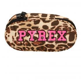 Astuccio Pyrex Animalier in nylon con maxi logo da donna rif. PY80129