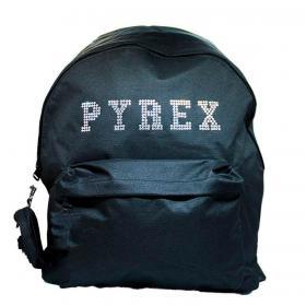 Zaino Pyrex in nylon con maxi logo con strass da donna rif. PY80144