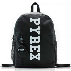 Zaino Pyrex in nylon con stampa maxi logo verticale unisex rif. PY80147