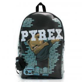 Zaino Pyrex in ecopelle con maxi stampa unisex rif. PY80159