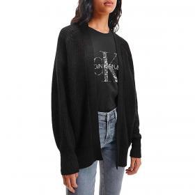 Cardigan Calvin Klein Jeans relaxed con monogramma da donna rif. J20J216658