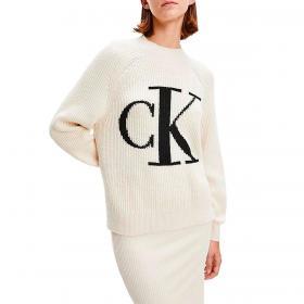 Maglione Calvin Klein Jeans relaxed con monogramma da donna rif. J20J216595