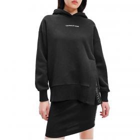 Felpa Calvin Klein Jeans in cotone biologico con spacco laterale da donna rif. J20J216948