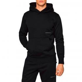 Felpa Calvin Klein Jeans Off Placed con cappuccio e logo laterale da uomo rif. J30J318175