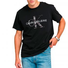 T-shirt Calvin Klein Jeans con logo monogramma sul petto da uomo rif. J30J318723