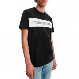 T-shirt Calvin Klein Jeans girocollo con stampa logo sul petto da uomo rif. J30J319296