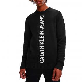 Maglione Calvin Klein Jeans con logo in cotone di qualità da uomo rif. J30J319590