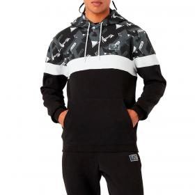 Felpa Emporio Armani EA7 Graphic Series con cappuccio motivo geometrico da uomo rif. 6KPM82 PJ07Z