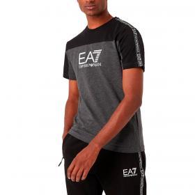 T-shirt Emporio Armani EA7 Athletic Colour Block bicolore in cotone da uomo rif. 6KPT10 PJ7CZ