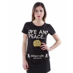 """T-Shirt """"Love & Peace Smiley"""" - donna"""