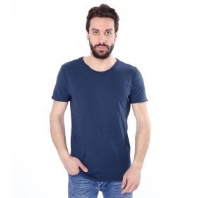 T-shirt basic tinta unita scollo tondo - uomo