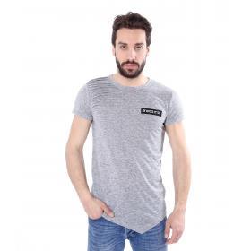 T-shirt casual maniche corte trama Jersey fondo a V - uomo